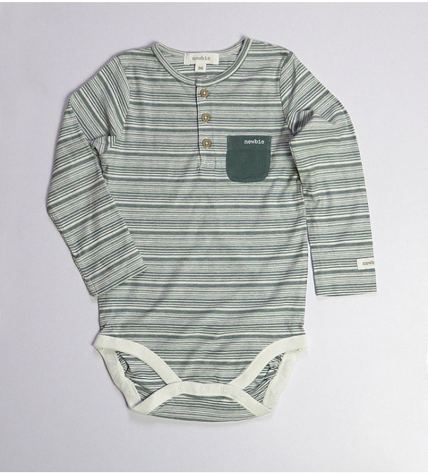 Baby Long Sleeve Striped Bodysuits