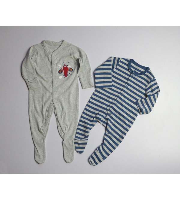 ' New Born ' Baby Printed Sleepsuits