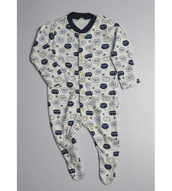 ' Upto 3 Month ' Baby Printed Sleepsuits