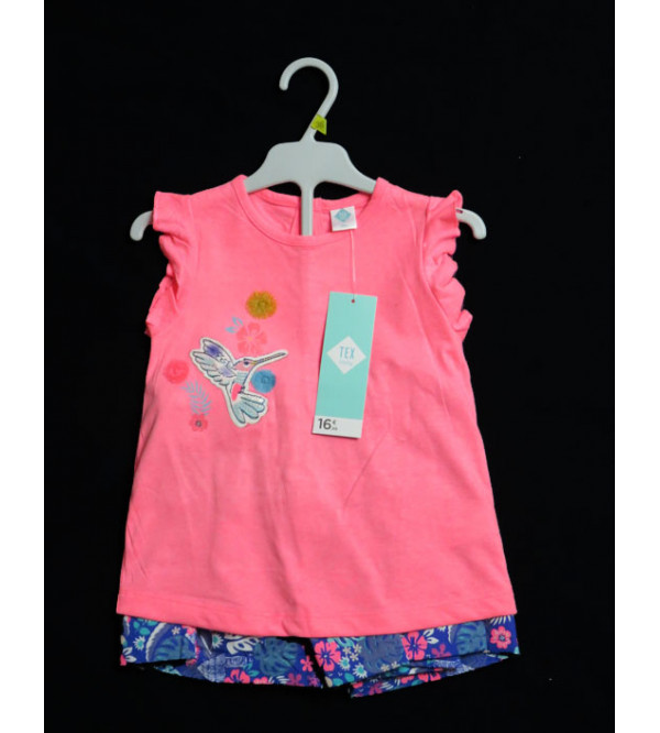 Baby Girls Printed 2 Pcs Set Hanger Pack