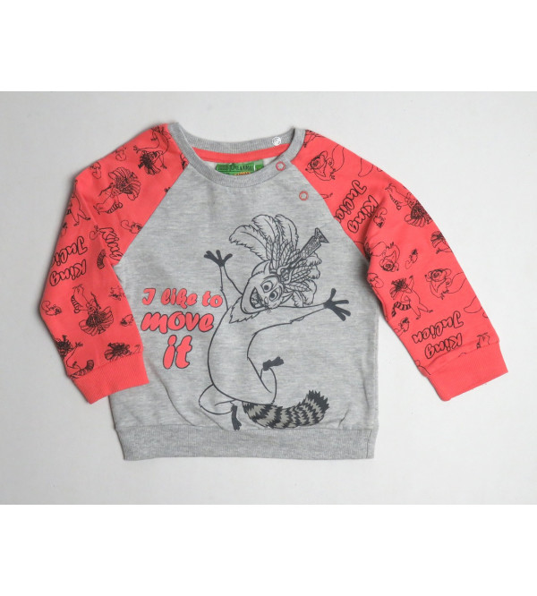 Madagascar Printed Baby Fleece Sweatshirt