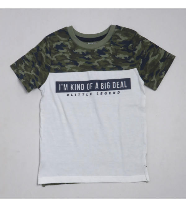 Baby Boys Printed Camo T Shirt