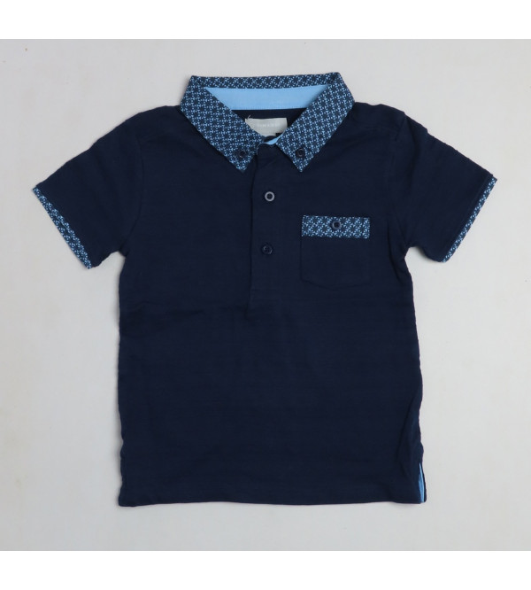 Baby Boys Slub Knit Polo