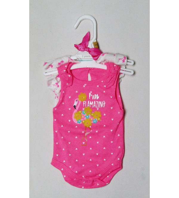 Baby Girls Printed 2 pack Bodysuits