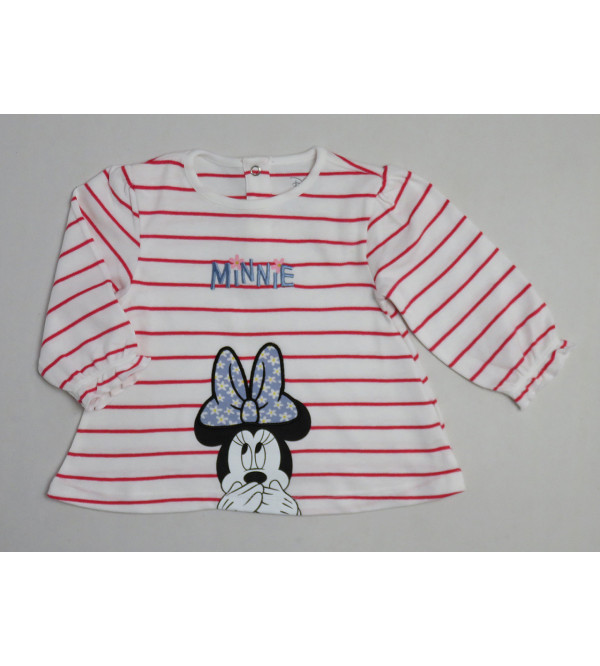 Minnie Mouse Baby Girls Applique T Shirt