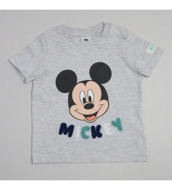 Mickey Mouse Baby Applique T Shirt
