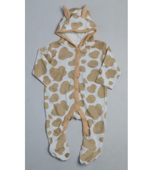 Animal Printed Baby Hooded Sleepsuits