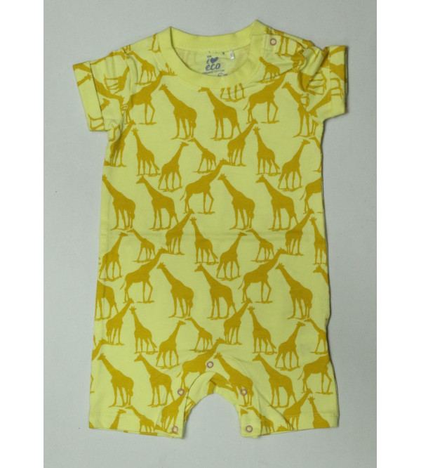 Baby Girls Printed Organic Cotton Playsuits