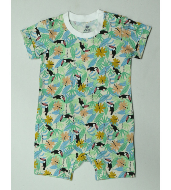 Baby Girls Printed Organic Cotton Playsuits