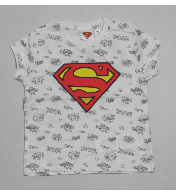 Superman Baby Boys Short Sleeve Printed T Shirt