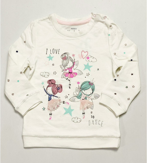 Baby Girls Printed Pullover Sweatshirt