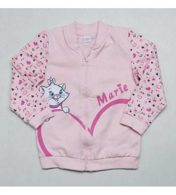Marie Baby Girls Printed Full Zipper Sweatshirt