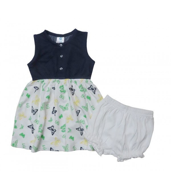 Baby Girls Printed Dress With Panty