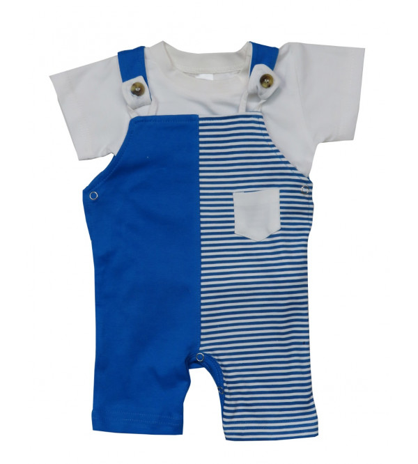 Baby Boys 2 pc set Dungaree and Tee