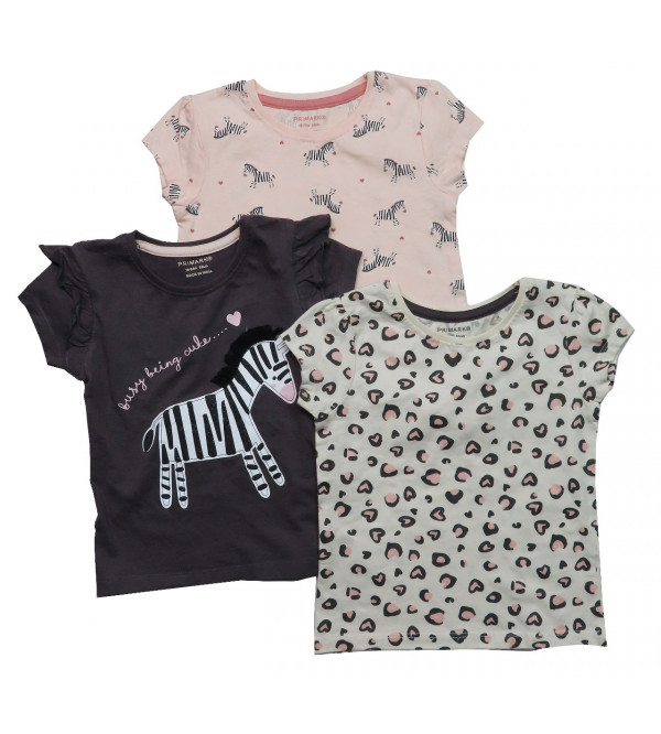 Baby Girls Printed T Shirts 3 pack