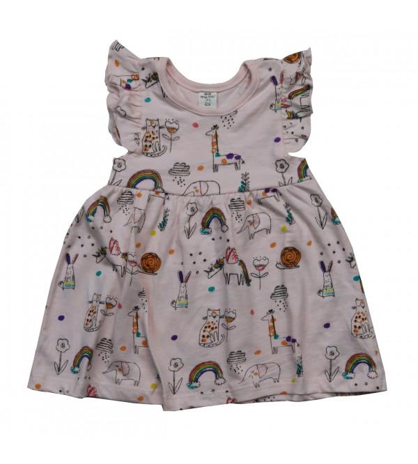 Baby Girls AOP Knit Dress