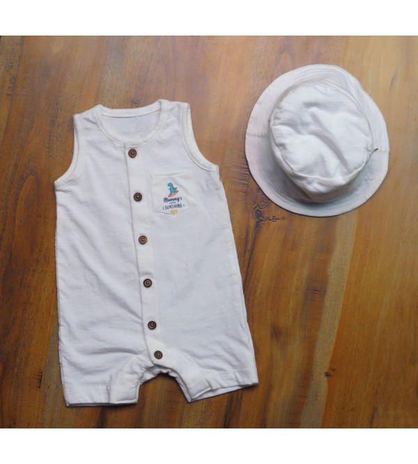 Baby Boys 2 pc set (Playsuit + Hat)
