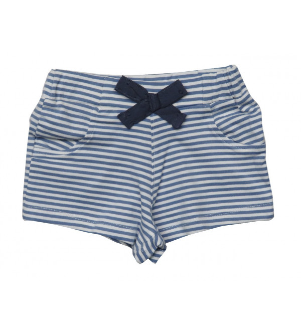 Baby Girls Striped Stretch Shorts