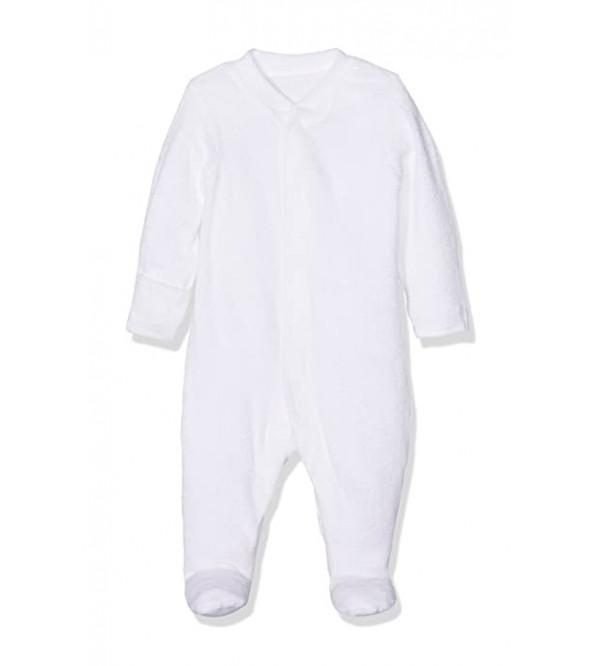 Baby Terry White Sleepsuit