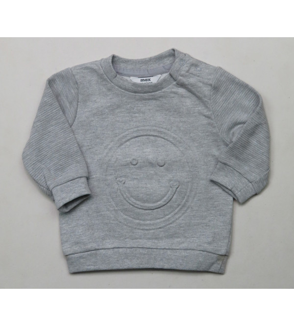Baby Boys Embossed Pullover Sweatshirt