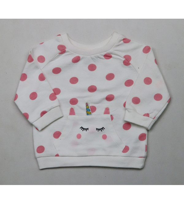 Baby Girls Applique Pullover Sweatshirt