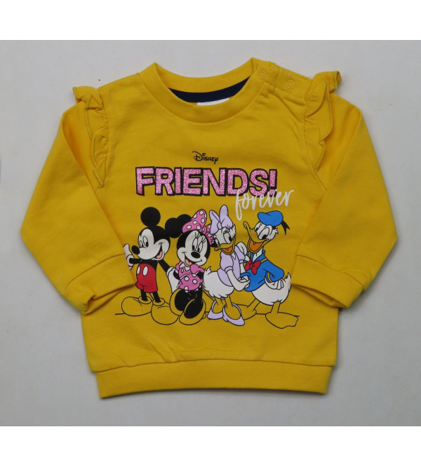 DiSNEY Baby Girls Applique Pullover Sweatshirt