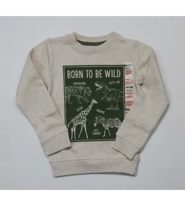 Boys Crew Neck Pullover Sweatshirt
