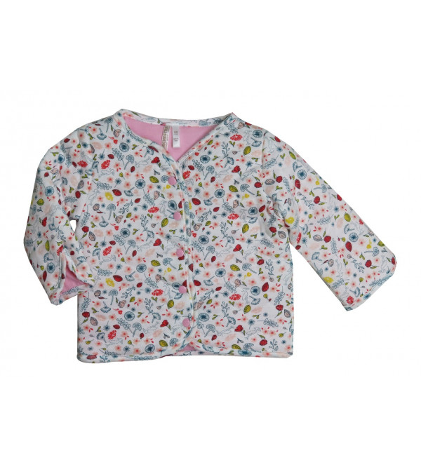 Baby Quilted Printed Jacket