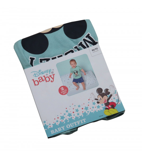 Mickey Mouse Baby Boys Printed Shorty Set