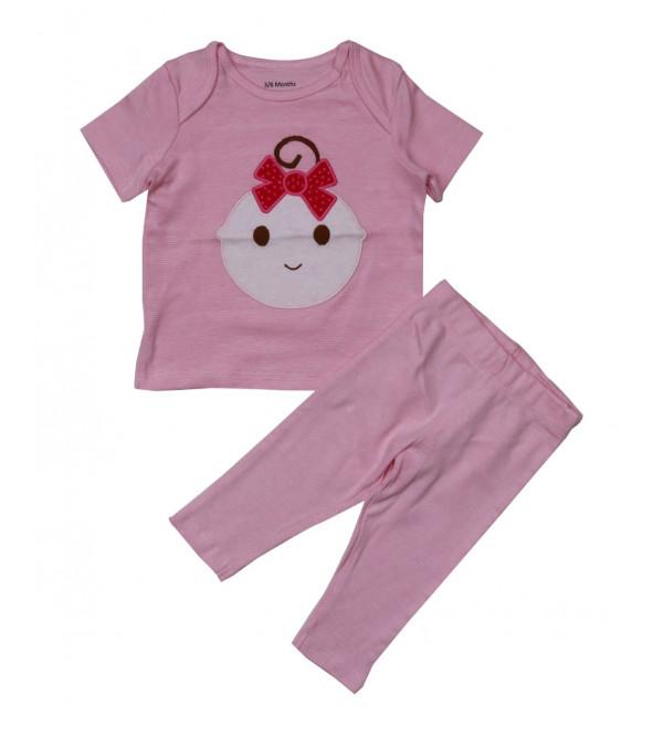 Baby Girls Pyjama Set With Applique
