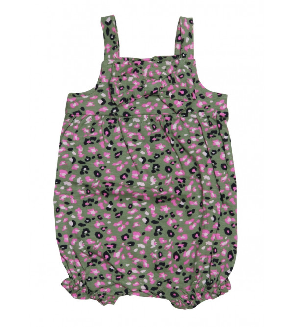Baby Girls Printed Strappy Dungaree