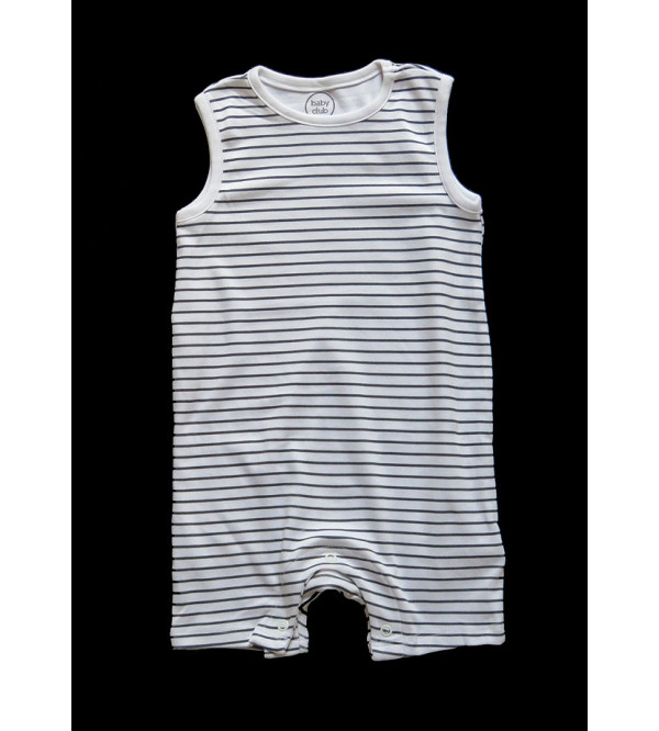 Baby Boys Striped n Printed Playsuits