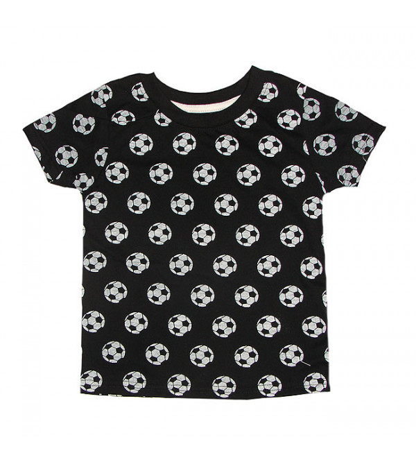 Foot Ball Print Baby Boys T Shirt