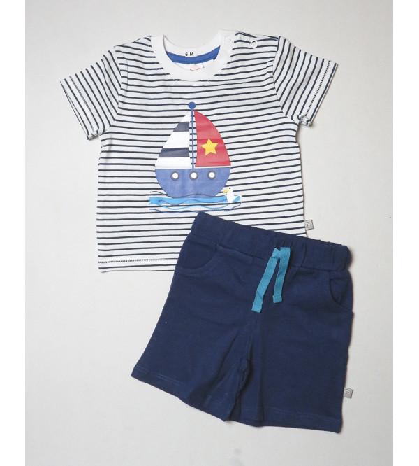 Baby Boys Printed Shorty Pyjama Set