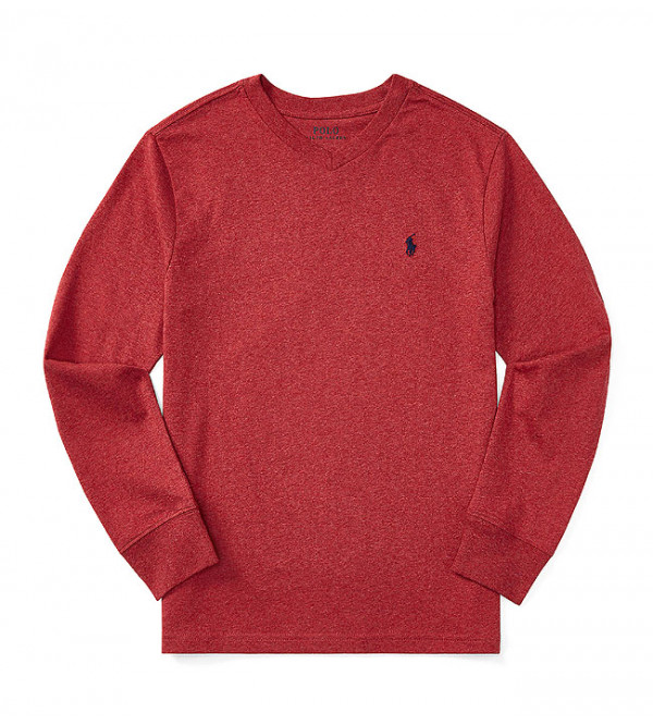 Boys Long Sleeve V Neck T Shirts