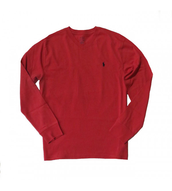 Older Boys Long Sleeve V Neck T Shirts