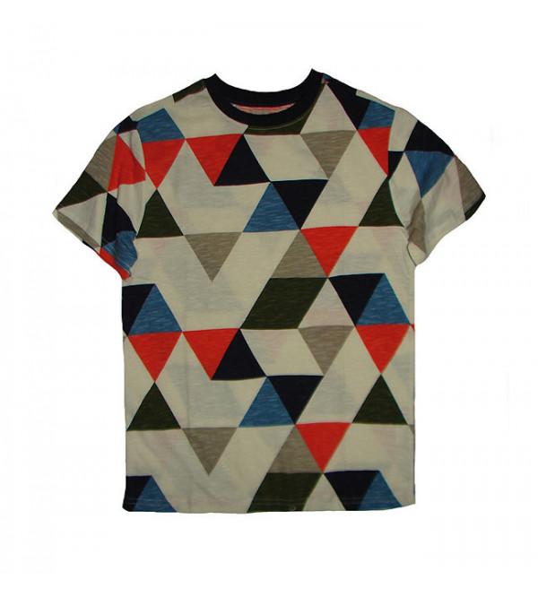 Triangle Print  Boys T Shirt