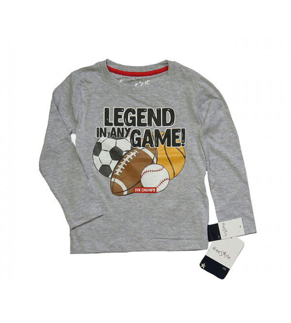 Boys Long Sleeve Printed T Shirts