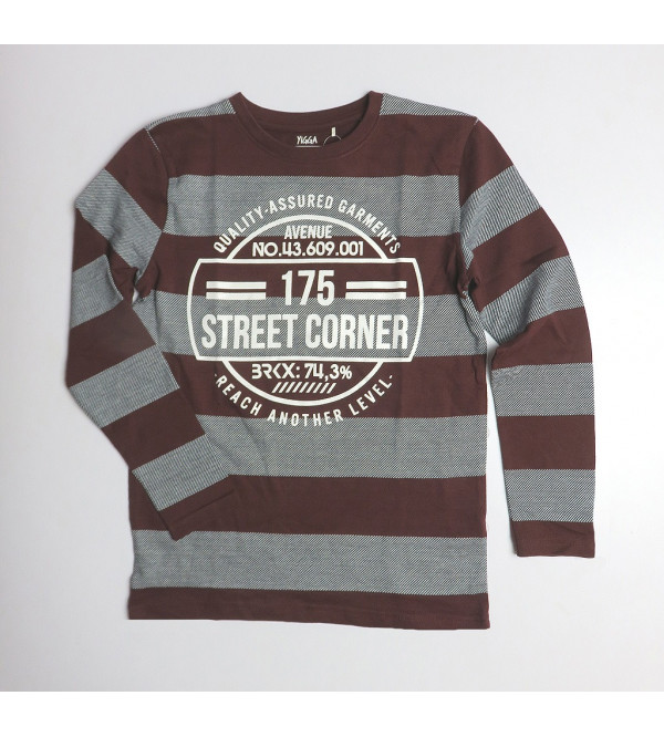 Boys Rugby Striped Winter T Shirt