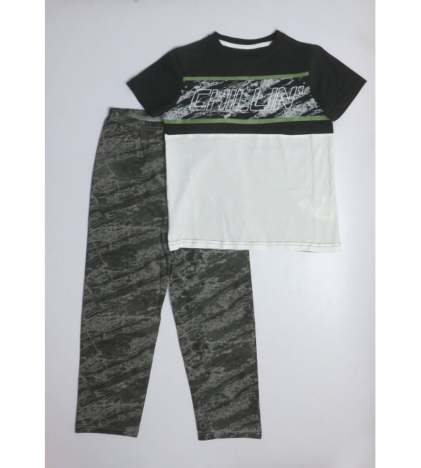SENIOR BOYS PRINTED PYJAMA SET