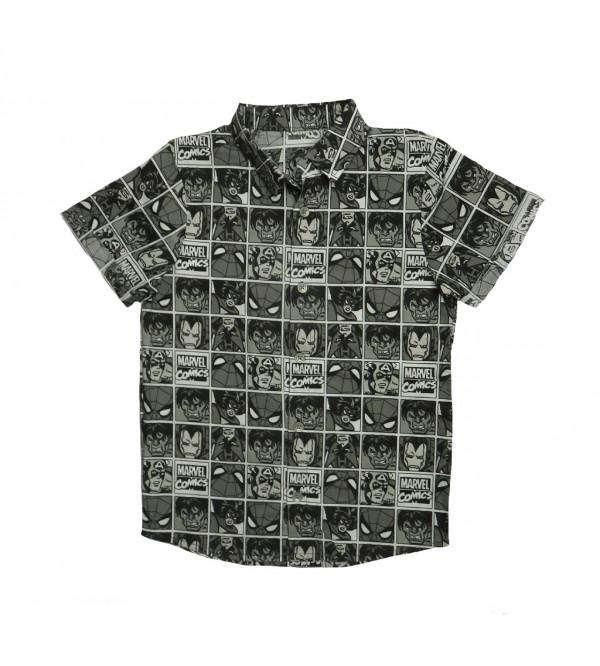 Character Printed Boys Woven Shirts