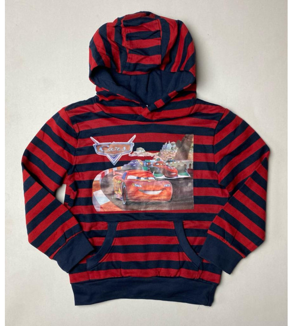 Cars Boys Pullover Sweatshirt With Hoodie