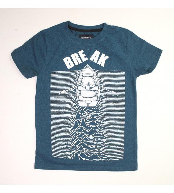 Boys Grindled Yarn T Shirt