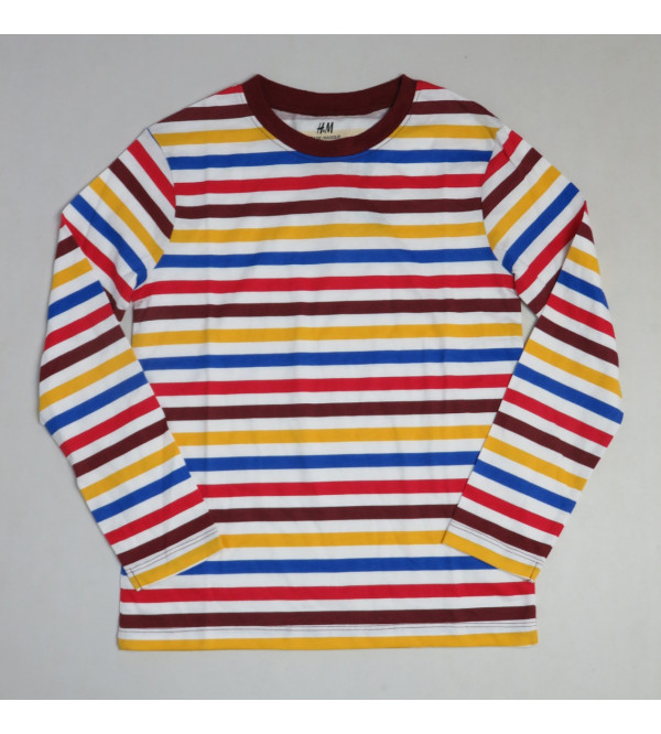 Boys Long Sleeve Striped T Shirt
