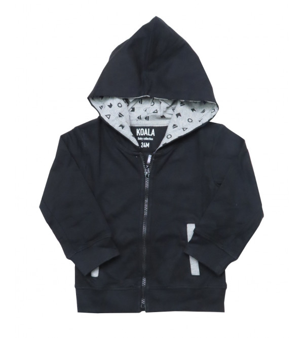 Baby Boys Hooded Full Zipper Sweatshirt