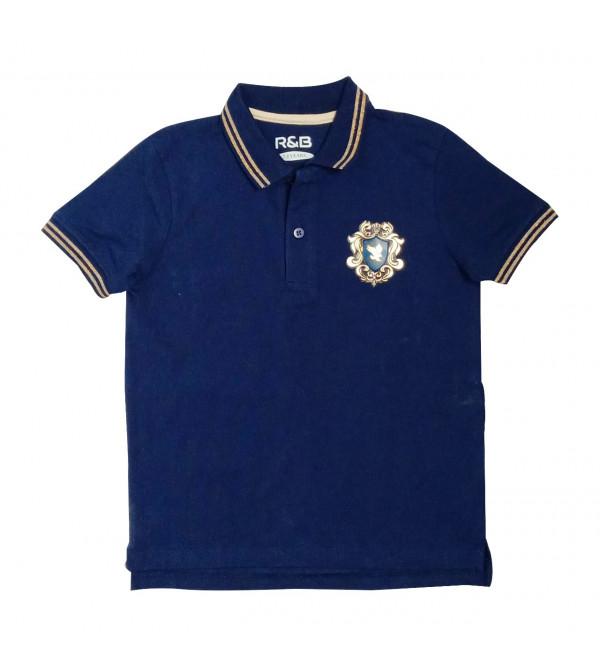 Boys Applique Collar T Shirt