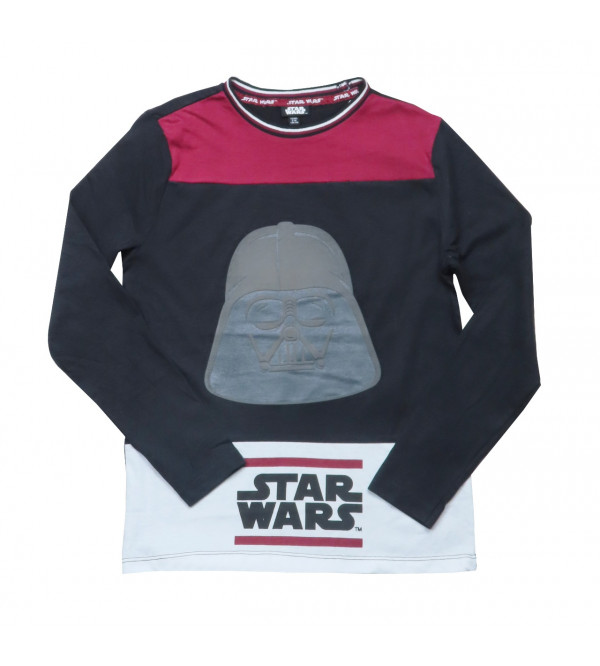 Star Wars Older Boys Long Sleeve Printed T Shirt