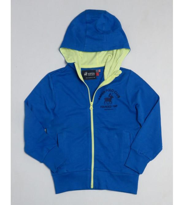 Boys Hooded Full Zipper Sweatshirt