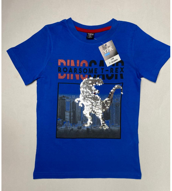 Dinosaur Sequinned Boys T Shirt