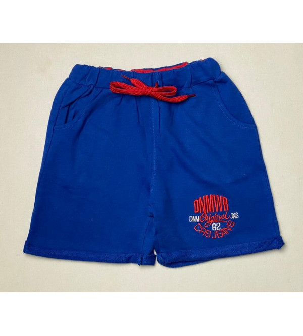 Boys Knit Shorts With Embroidery
